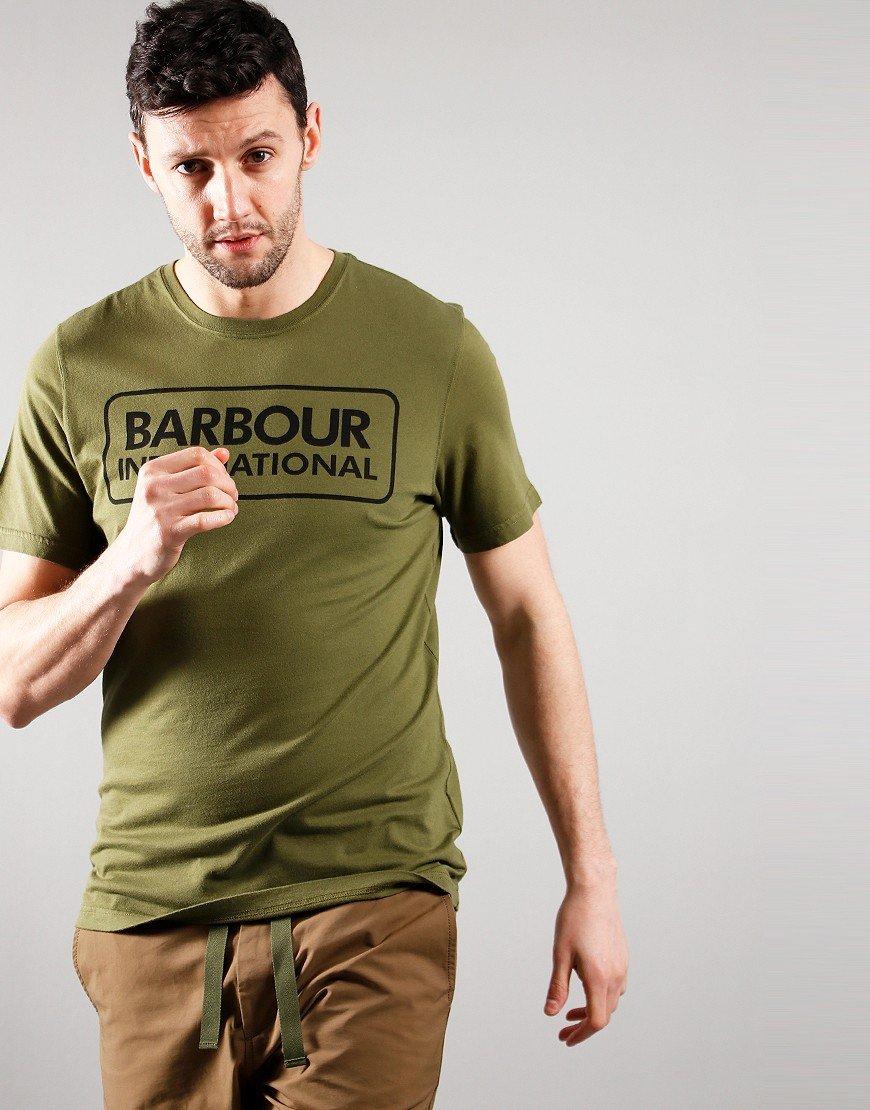 Barbour International Large Logo T-shirt Vintage Green
