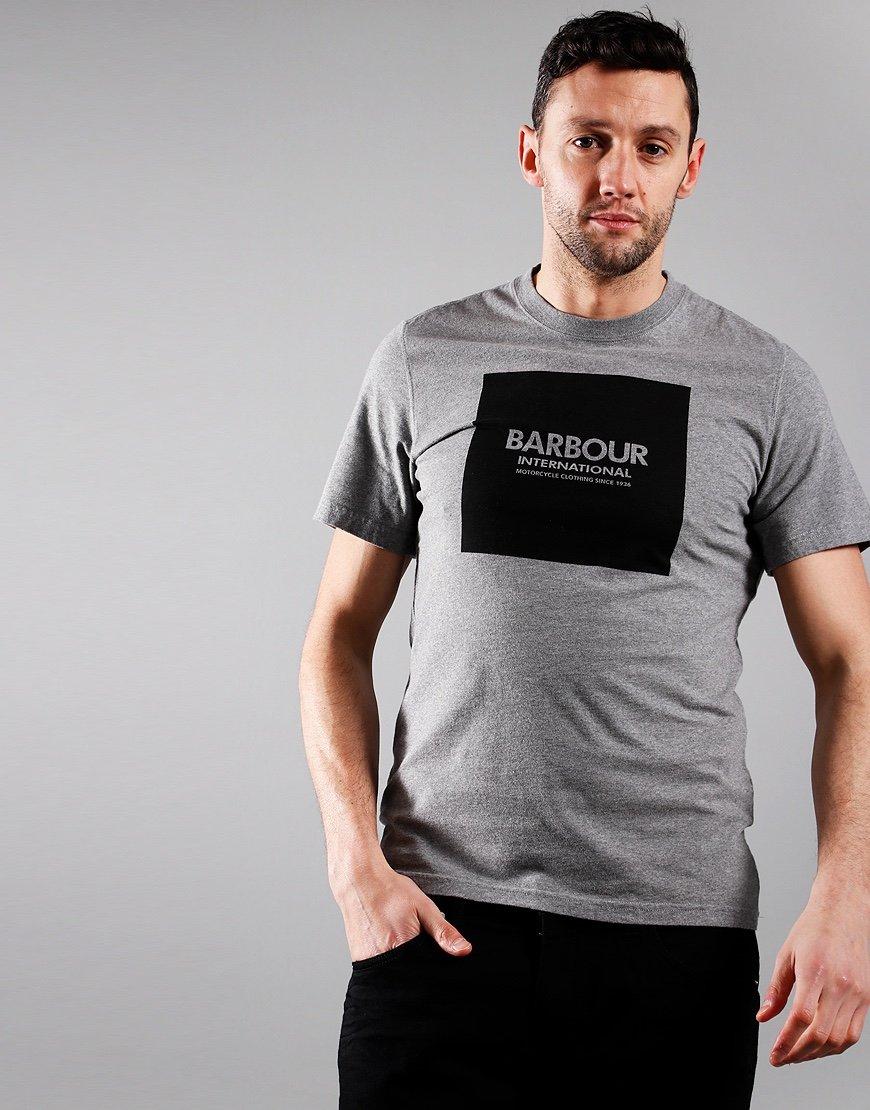 Barbour International Block T-Shirt Anthracite Marl