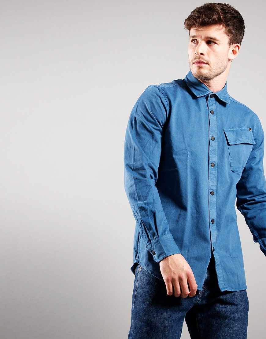 Barbour International Circuits Shirt Mid Blue