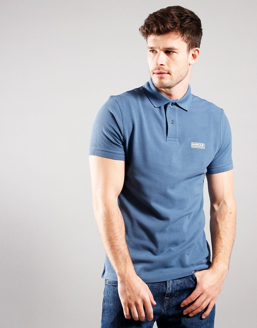 Barbour International Essential Polo Shirt Mid Blue