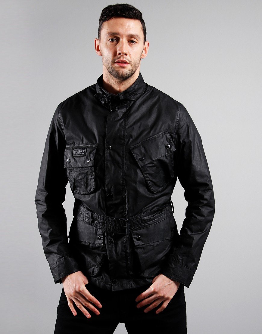 Barbour International Lightweight SL International Wax Jacket Black