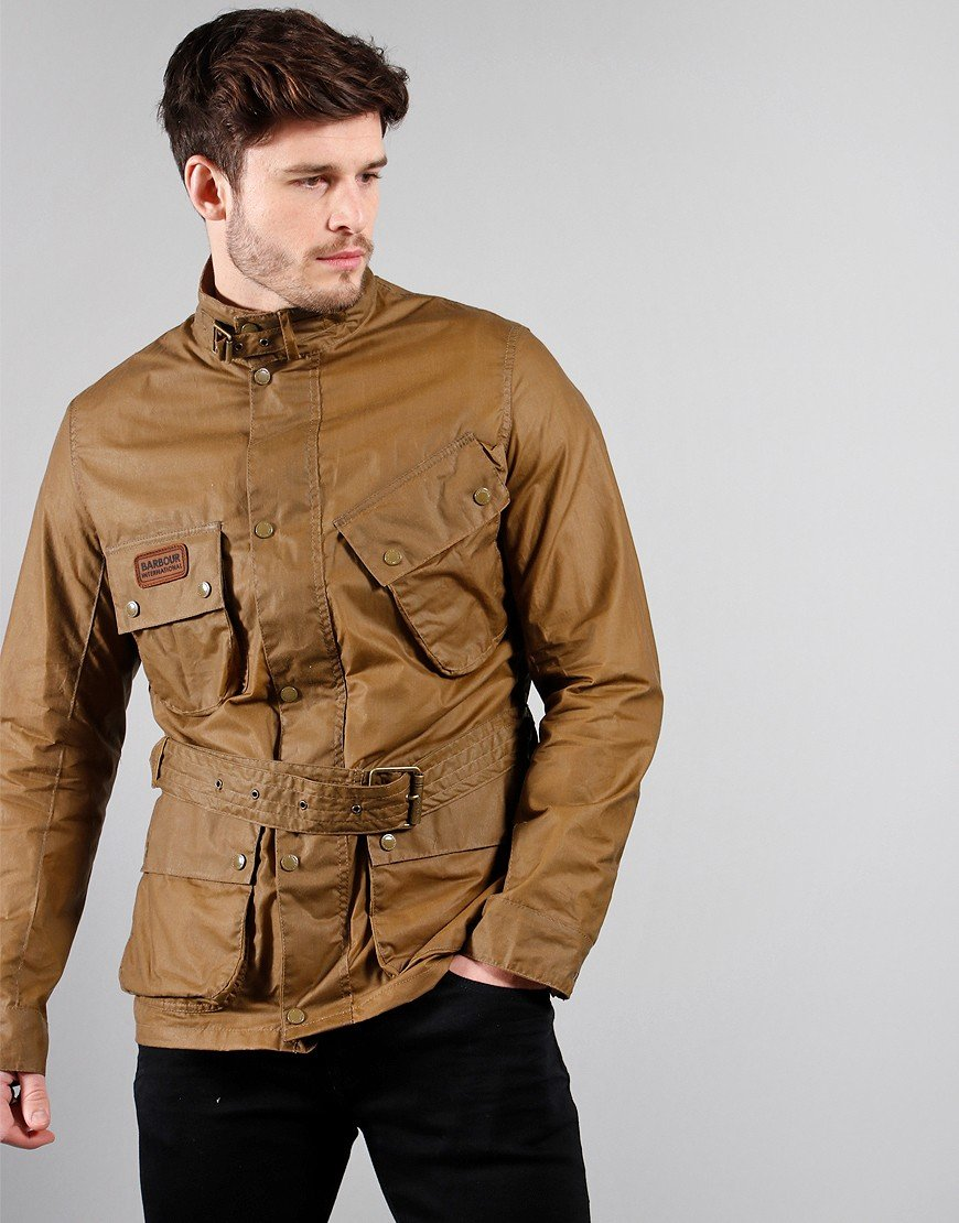 Barbour International Lightweight SL International Wax Jacket Sand