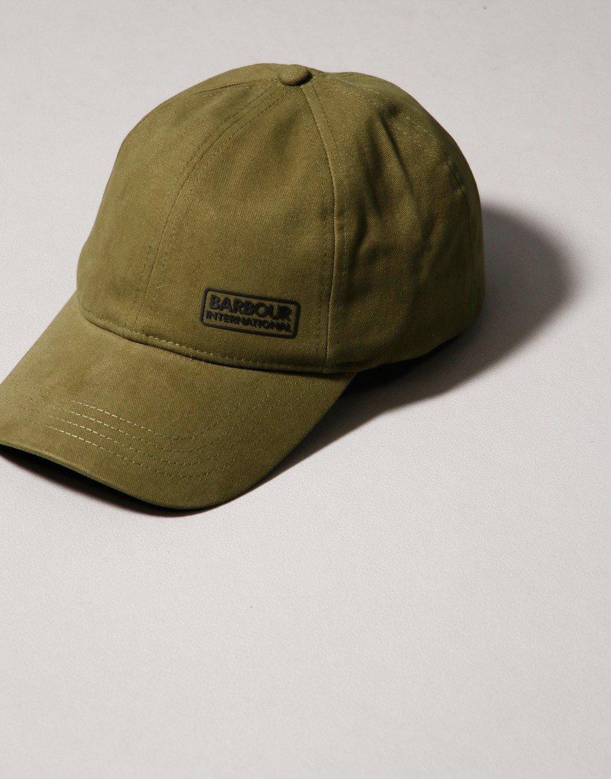 Barbour International Norton Drill Cap Vintage Green