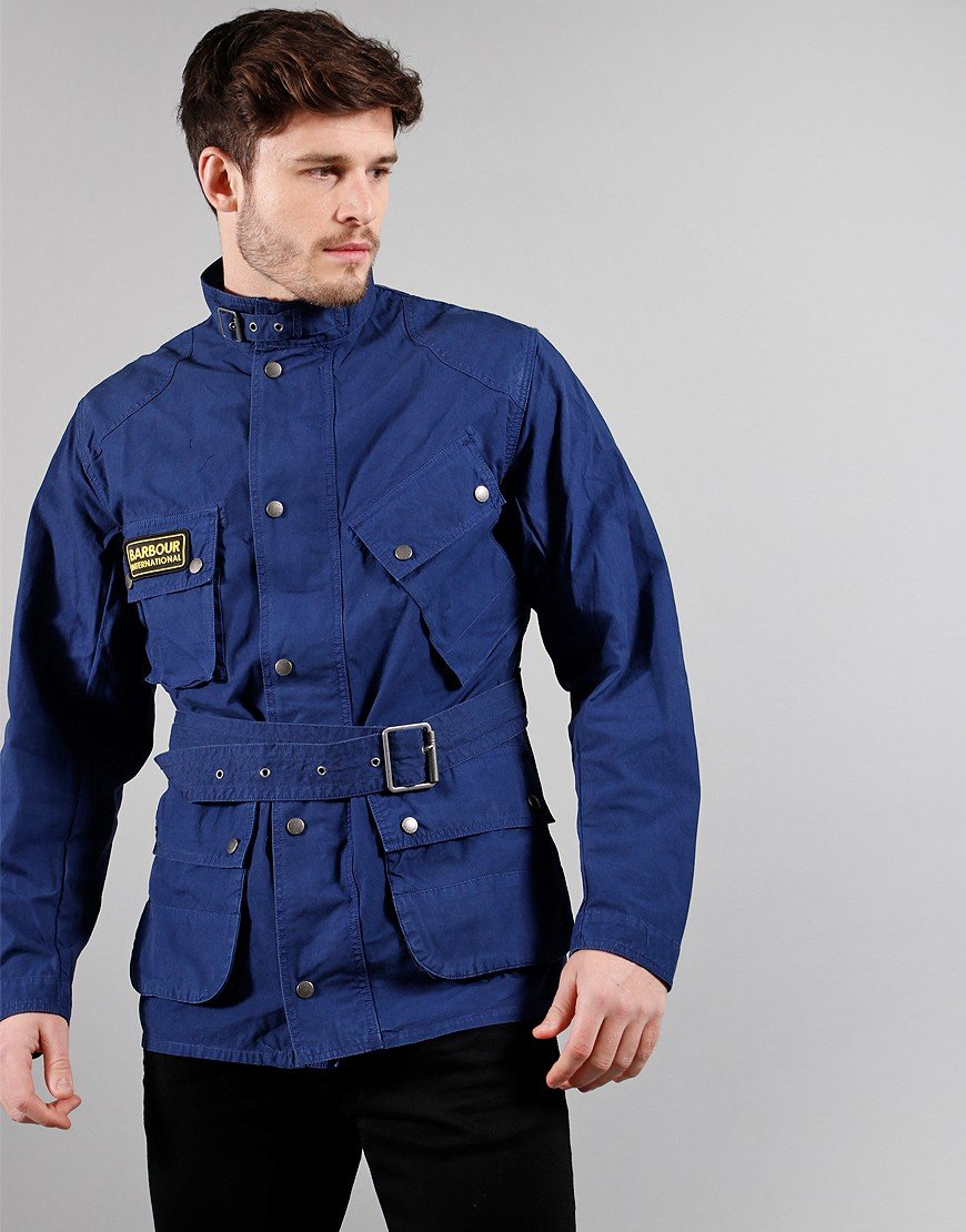 Barbour International Summer Wash A7 Casual Jacket Blue