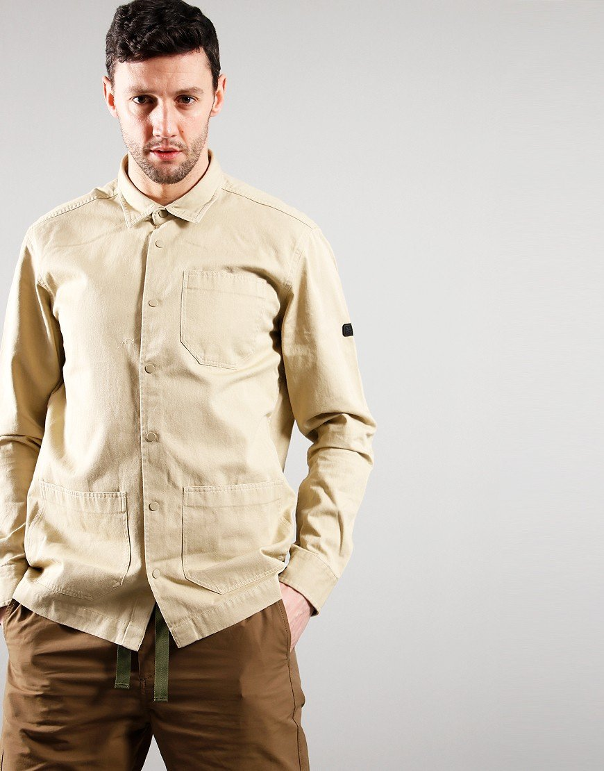 Barbour International Worker Overshirt Washed Stone
