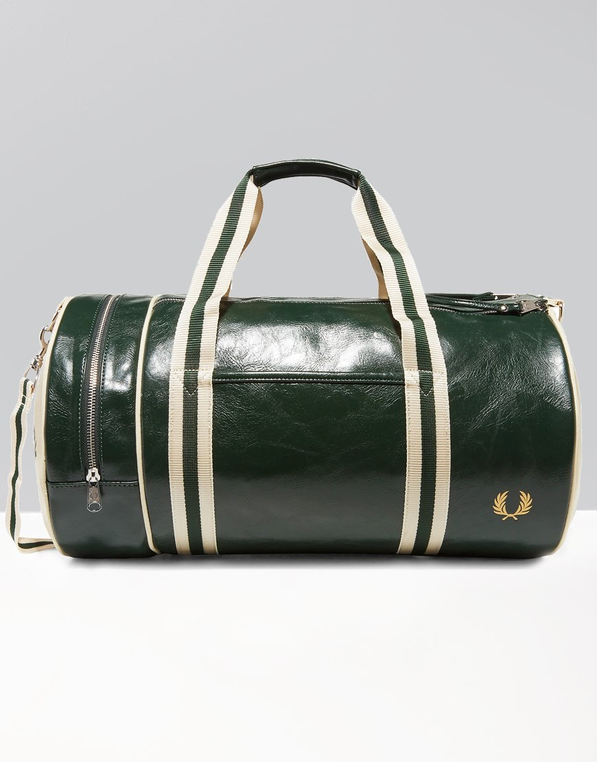 Fred Perry Classic Barrel Bag Forest