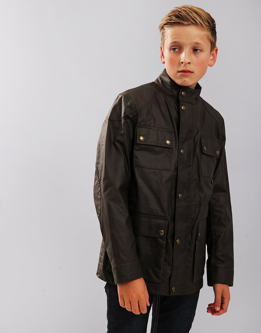 Belstaff Kids Roadmaster Jacket Faded Olive