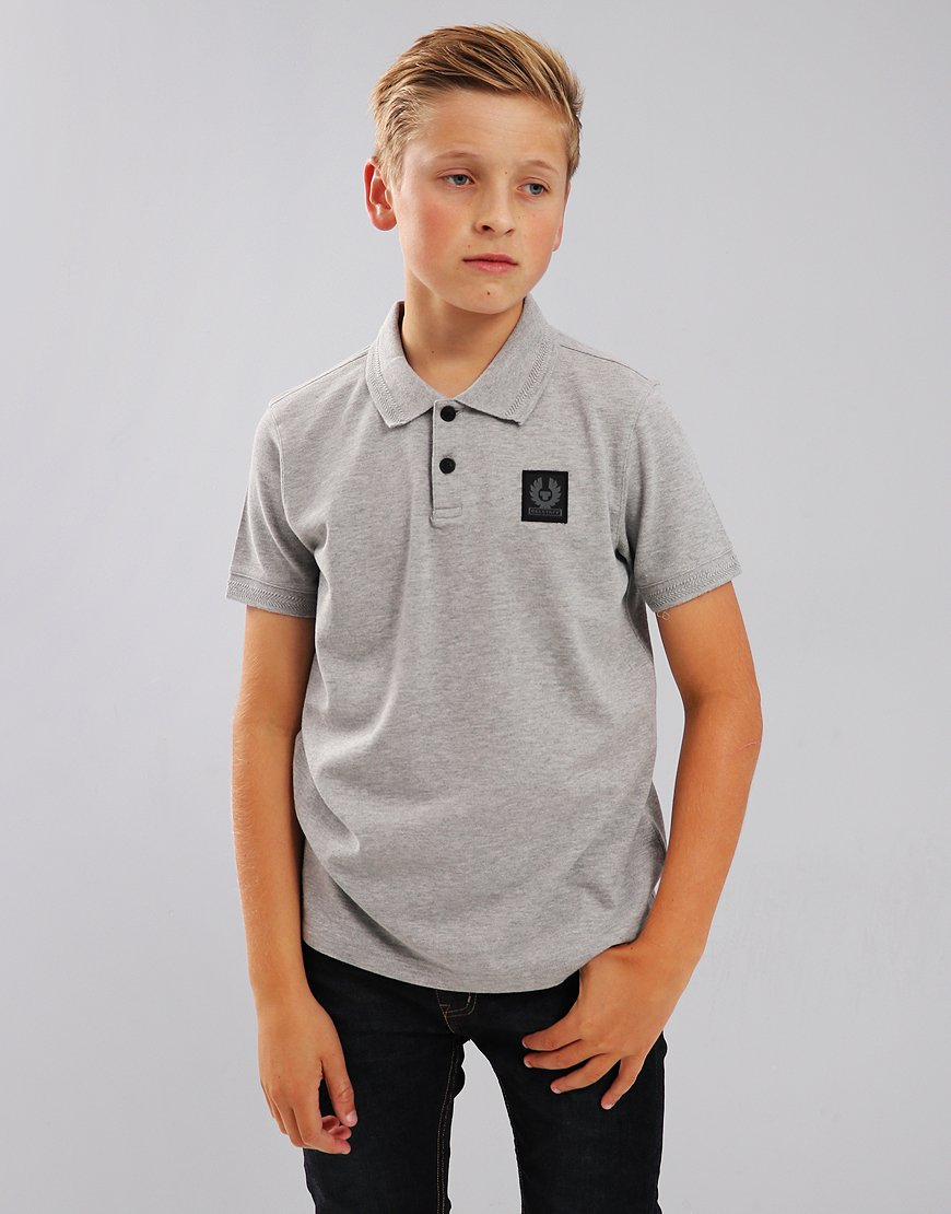 Belstaff Kids Stannett Polo Shirt Grey Melange