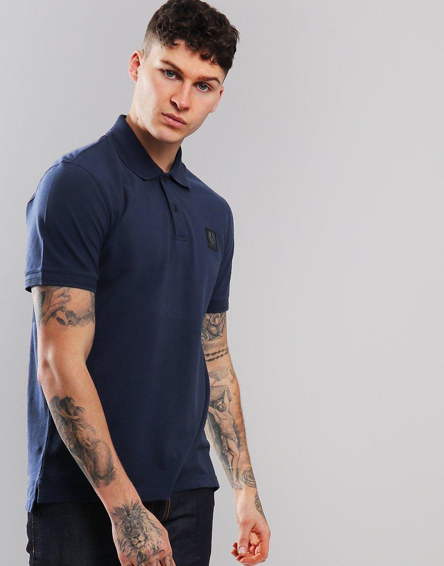 919272cb4a28 Belstaff Stannett Polo Shirt Navy - Terraces Menswear
