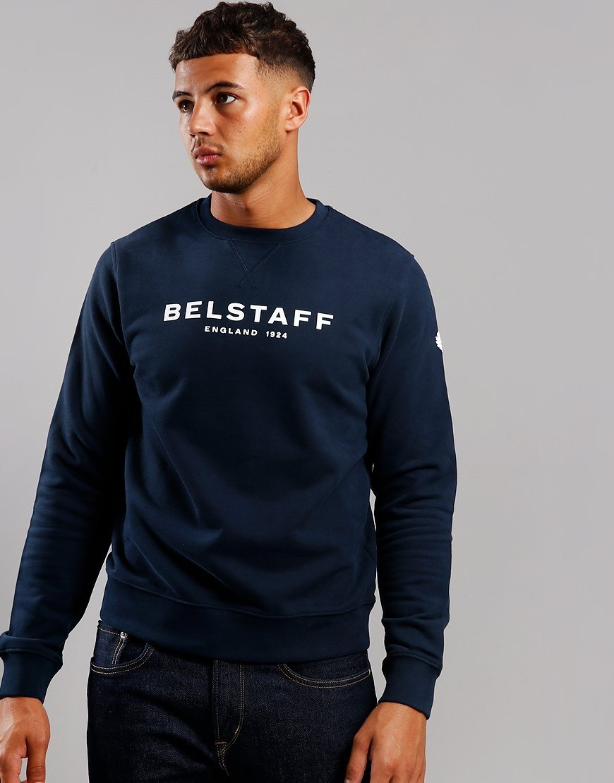 Belstaff 1924 Crew Neck Sweat Navy / Off White