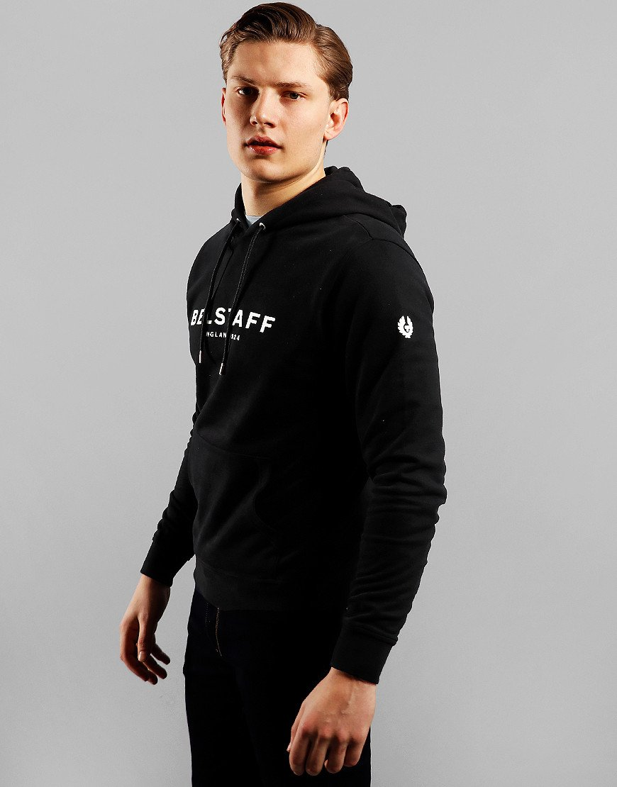 Belstaff 1924 Over Head Hoodie Black