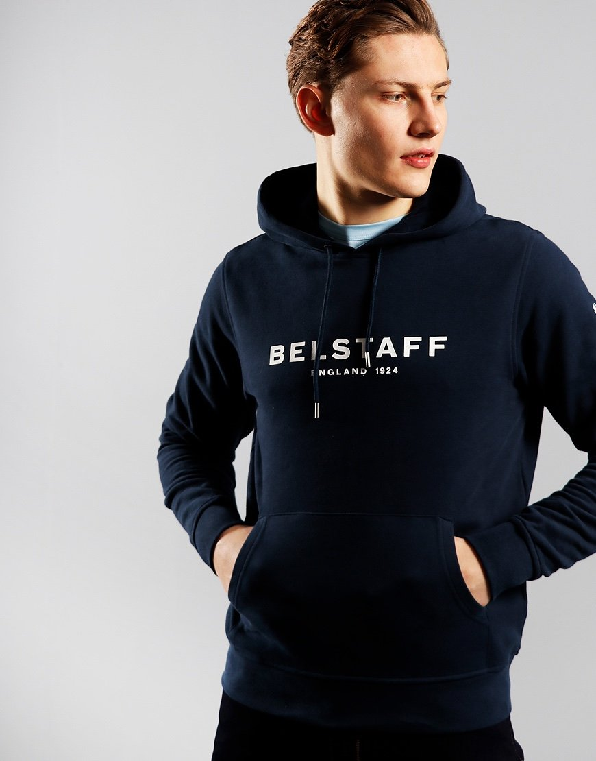 Belstaff 1924 Hoodie  Navy / Off White