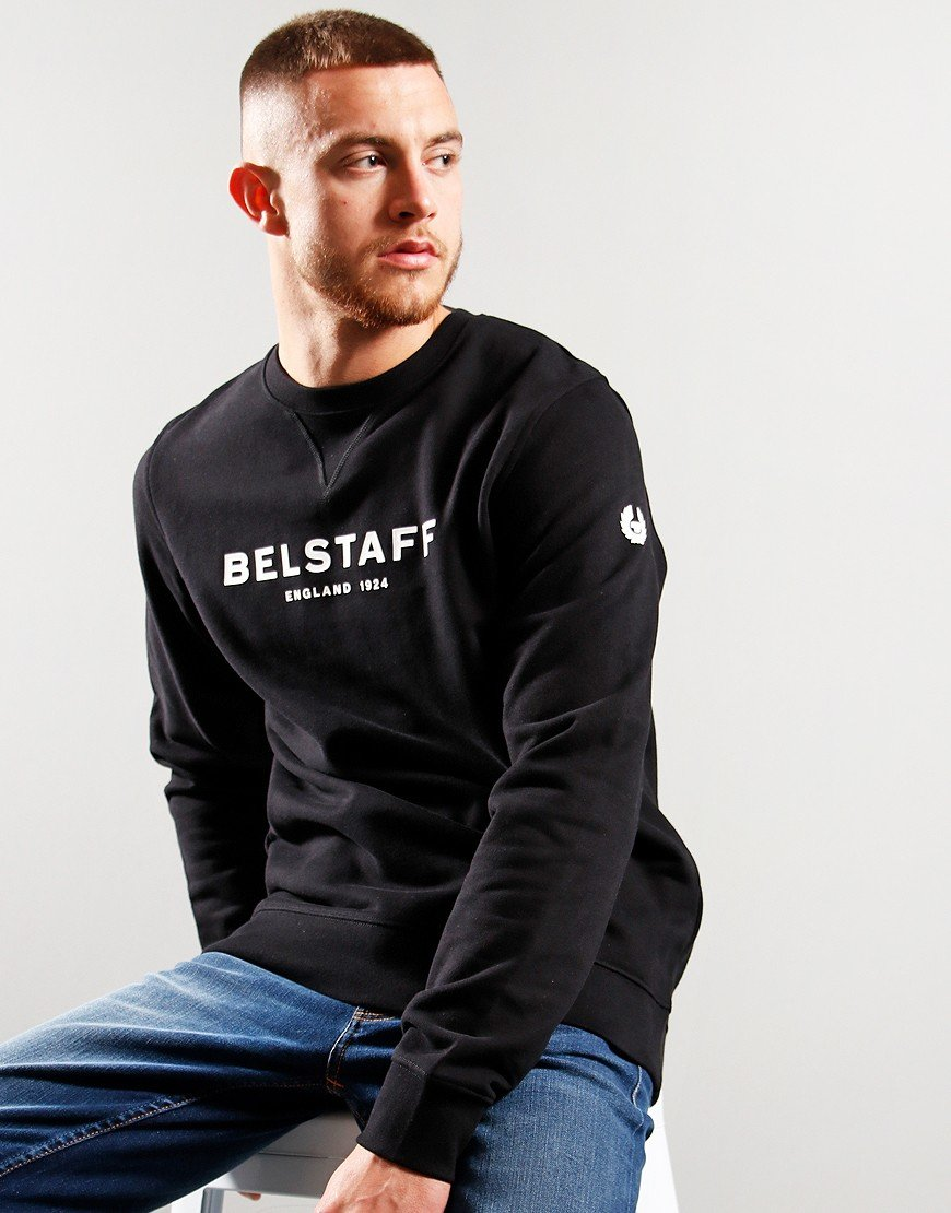 Belstaff 1924 Crew Neck Sweat Black / White