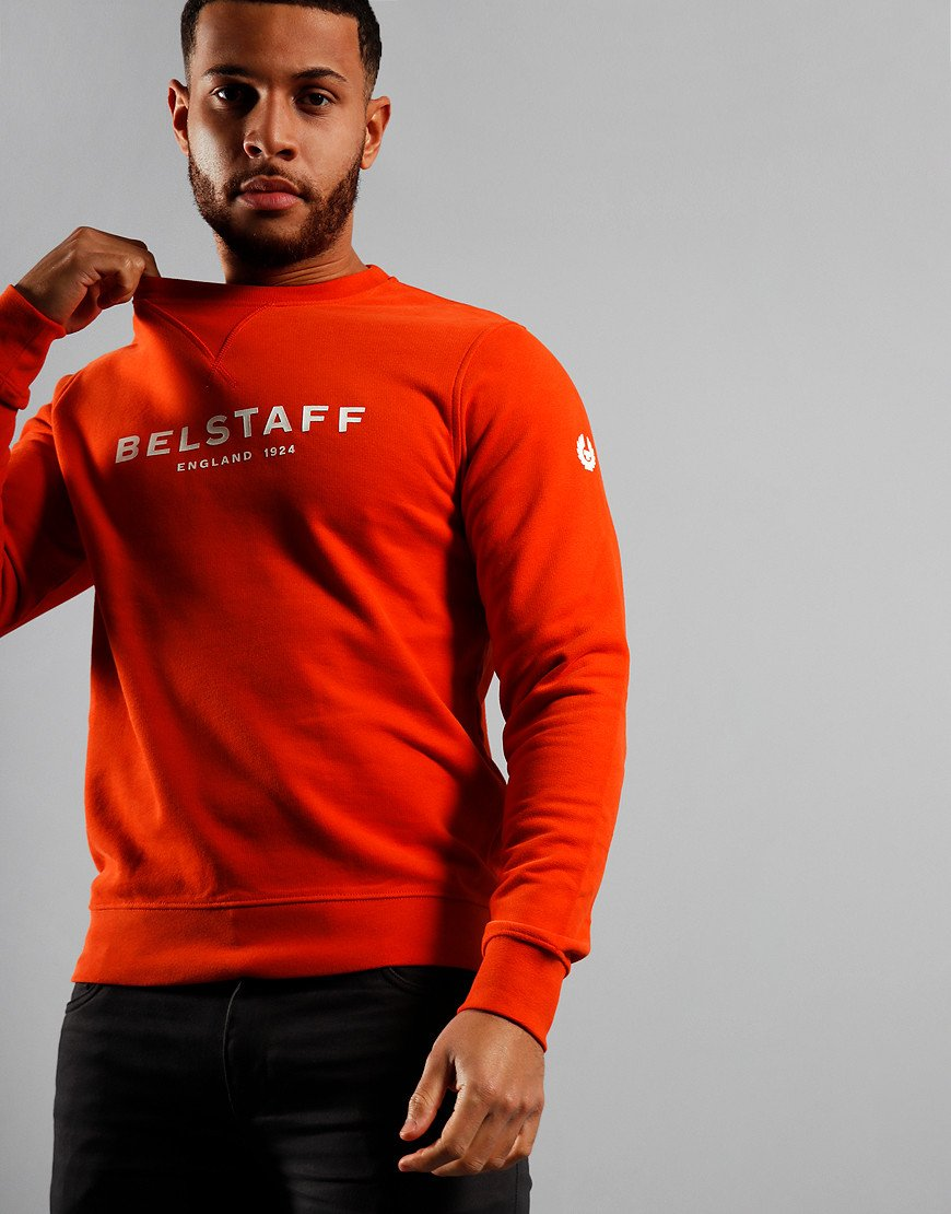 Belstaff 1924 Crew Sweat Orange