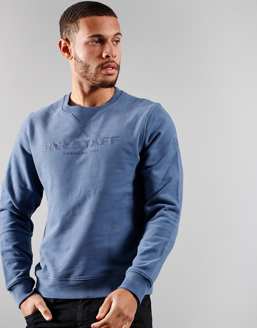 Belstaff 1924 Crew Neck Sweat Racing Blue