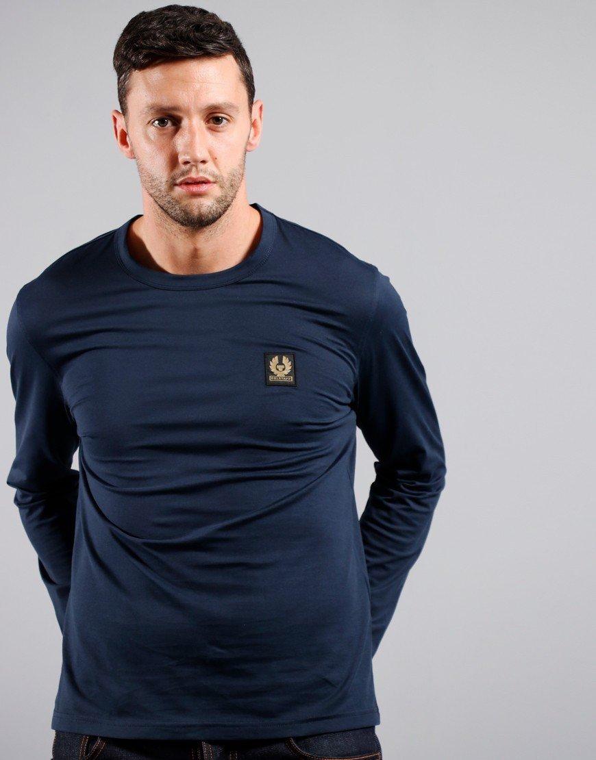Belstaff Long Sleeve T-Shirt Navy