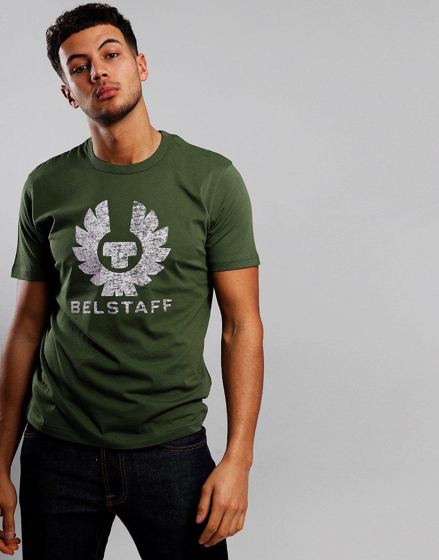 Belstaff Coteland 2.0 Destressed T-Shirt Olivine