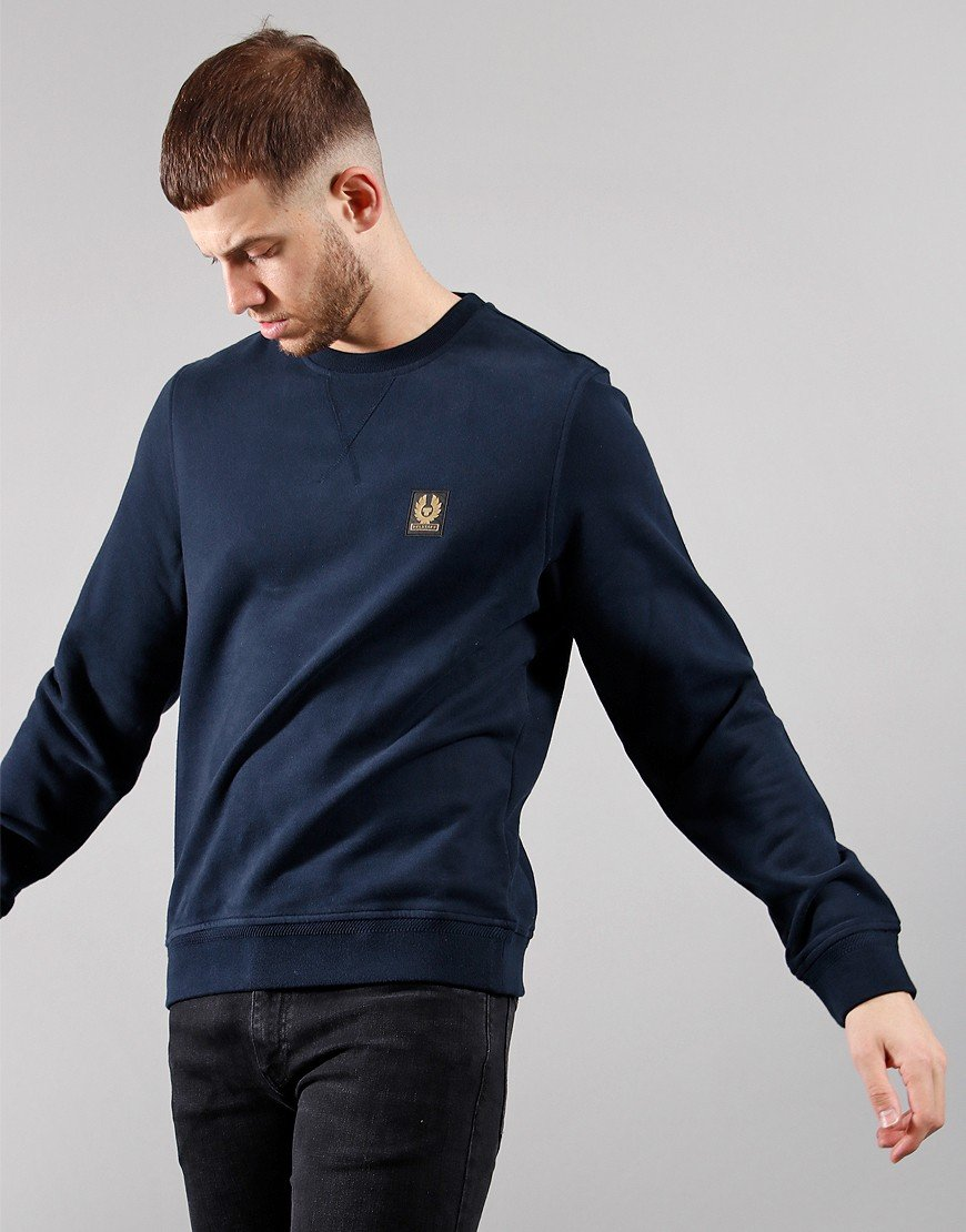 Belstaff Crew Neck Sweat Dark Ink