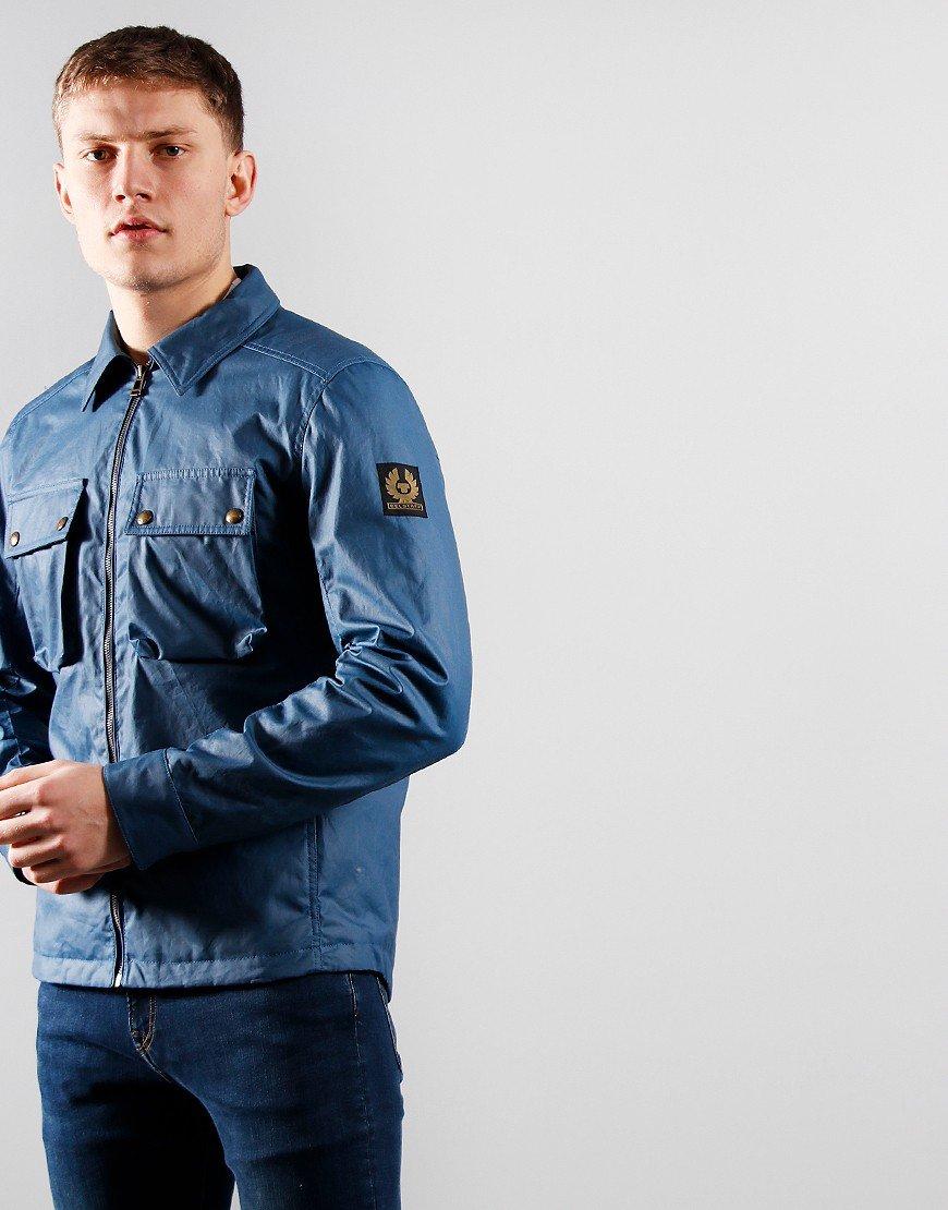 Belstaff Dunstall Waxed Cotton Jacket Airforce Blue