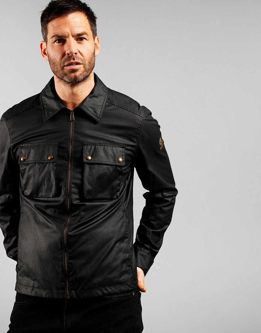 Belstaff Dunstall Waxed Cotton Jacket Black