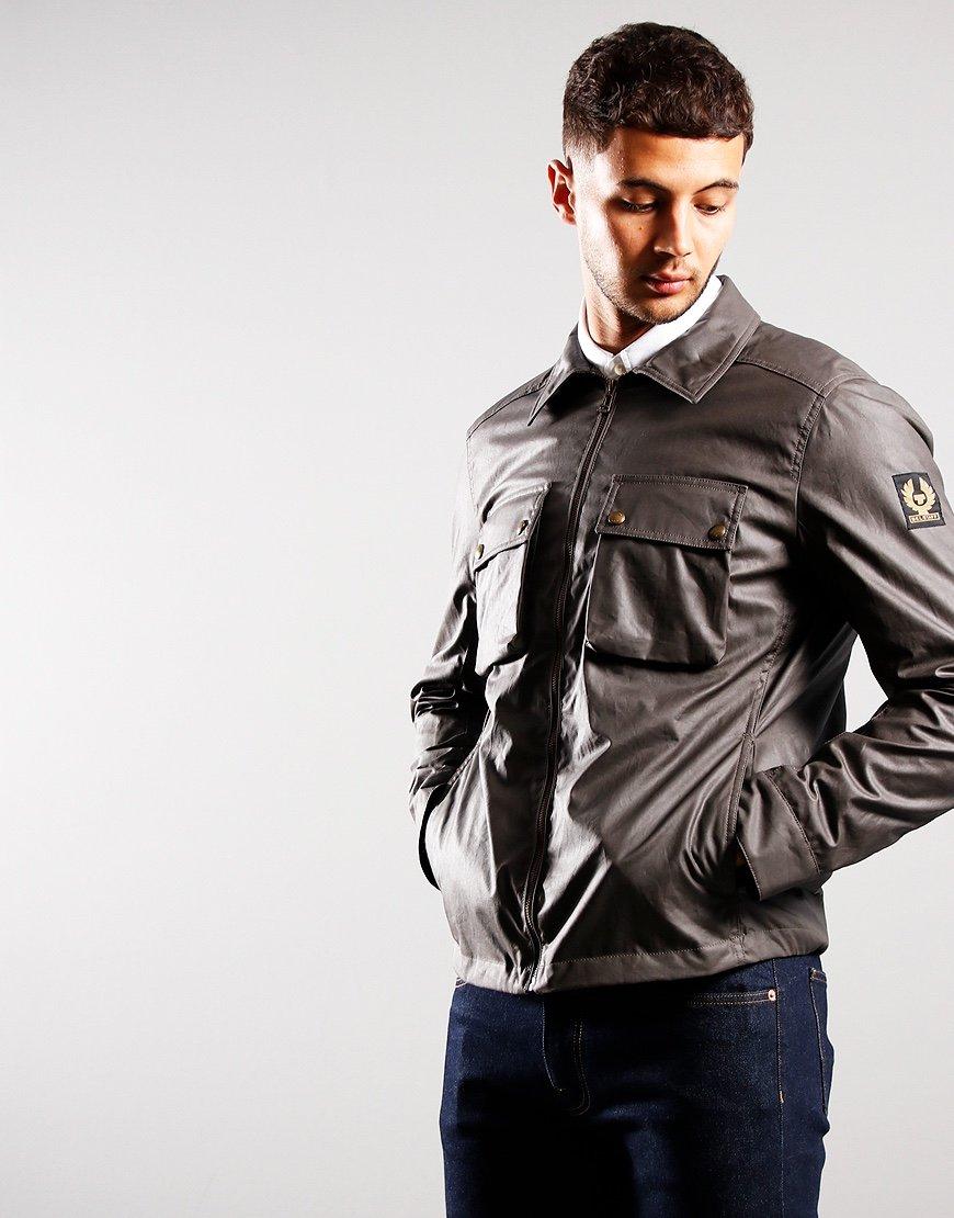 Belstaff Dunstall Waxed Cotton Jacket Granite Grey