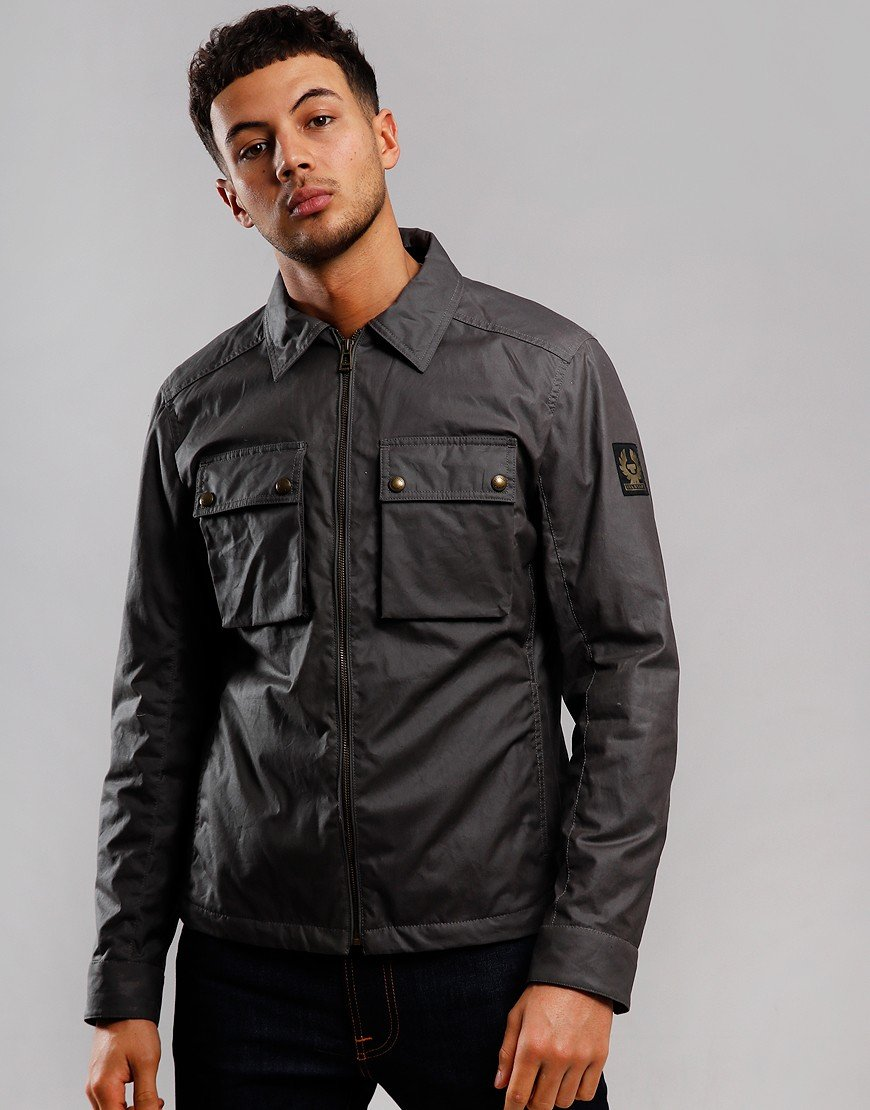 Belstaff Dunstall Waxed Jacket Dark Grey