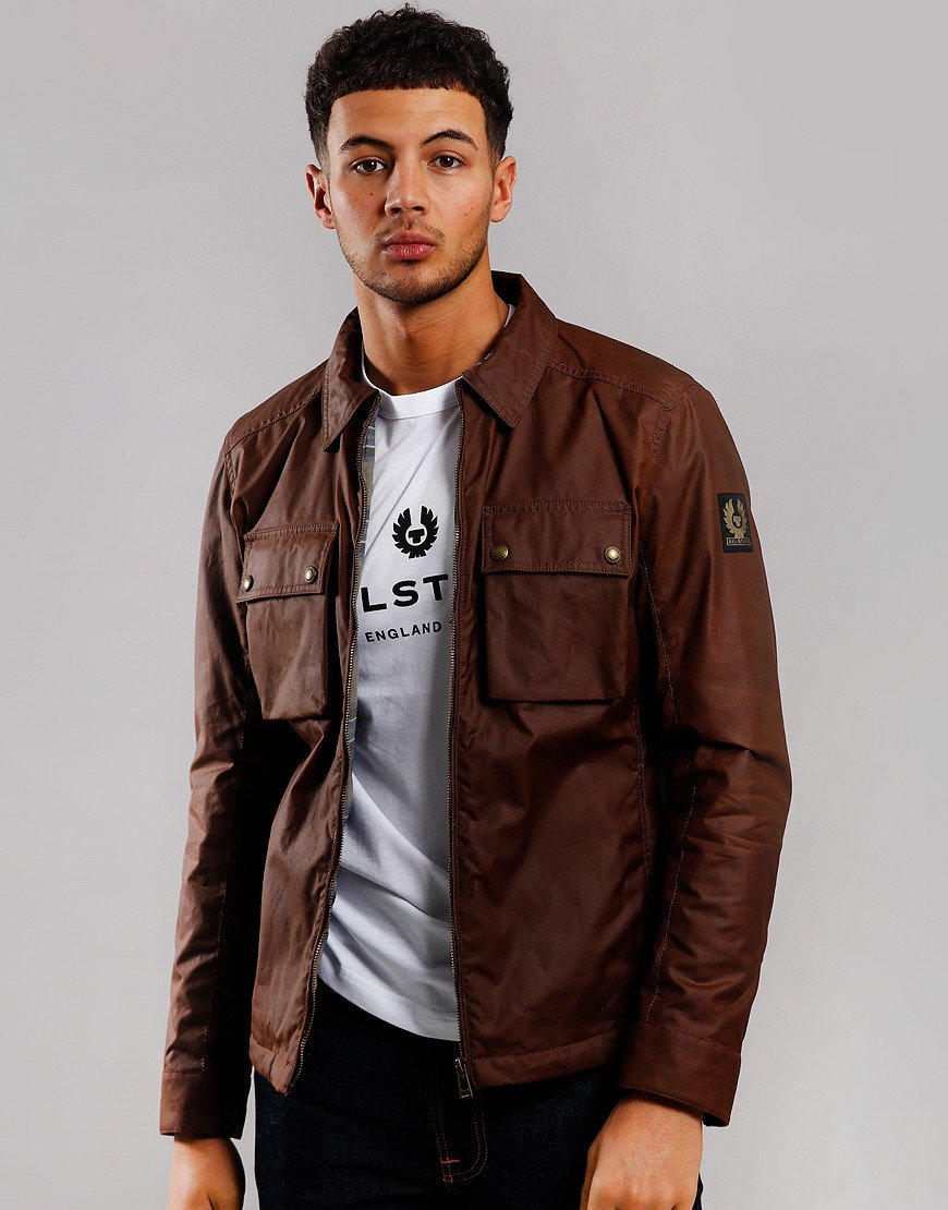 Belstaff Dunstall Waxed Jacket Light Brown