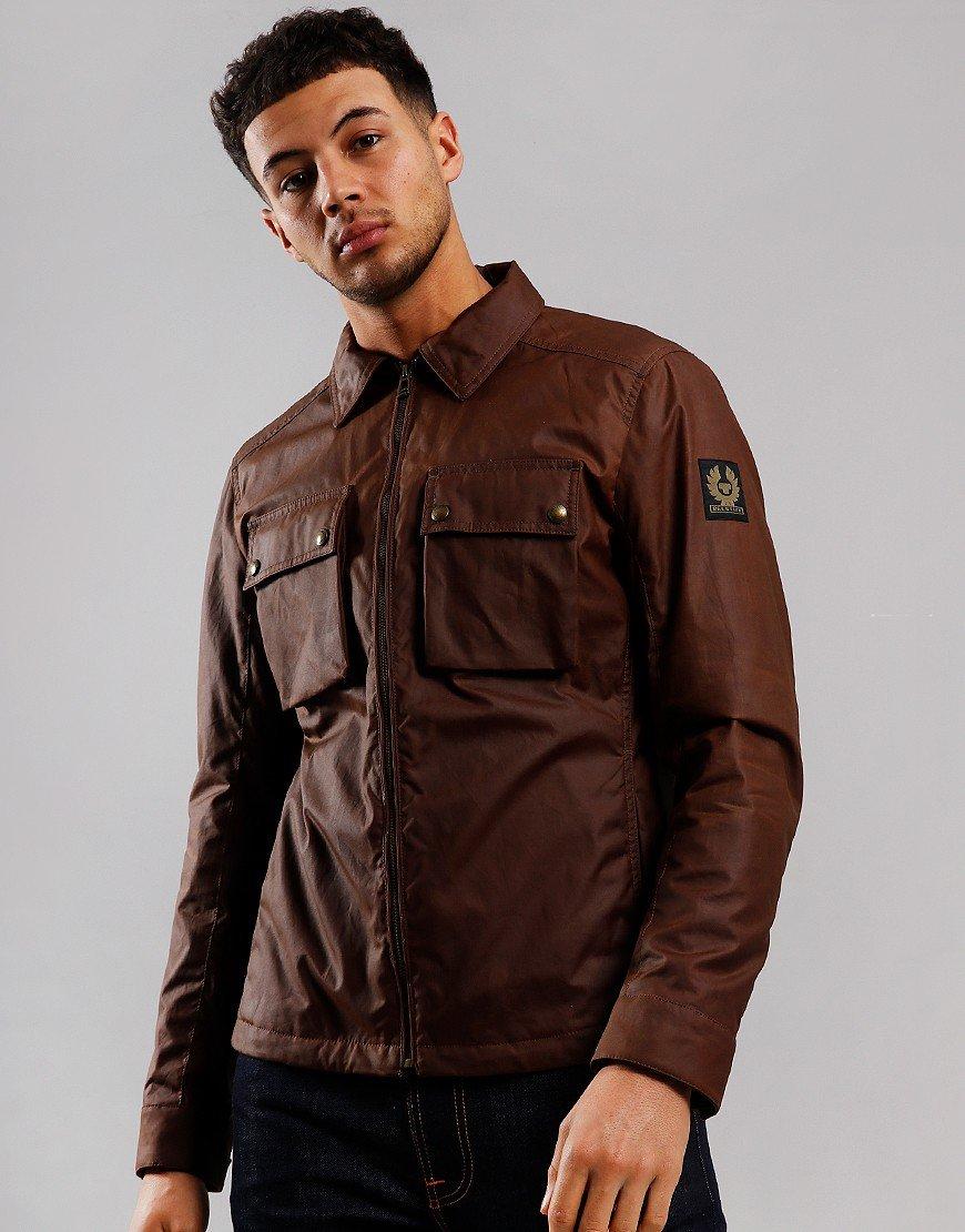 Belstaff Dunstall Waxed Jacket Light Brown