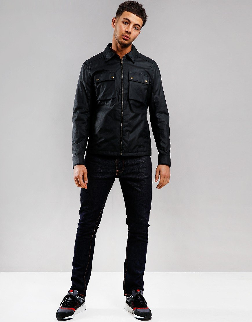 Belstaff Dunstall Waxed Jacket Dark Navy