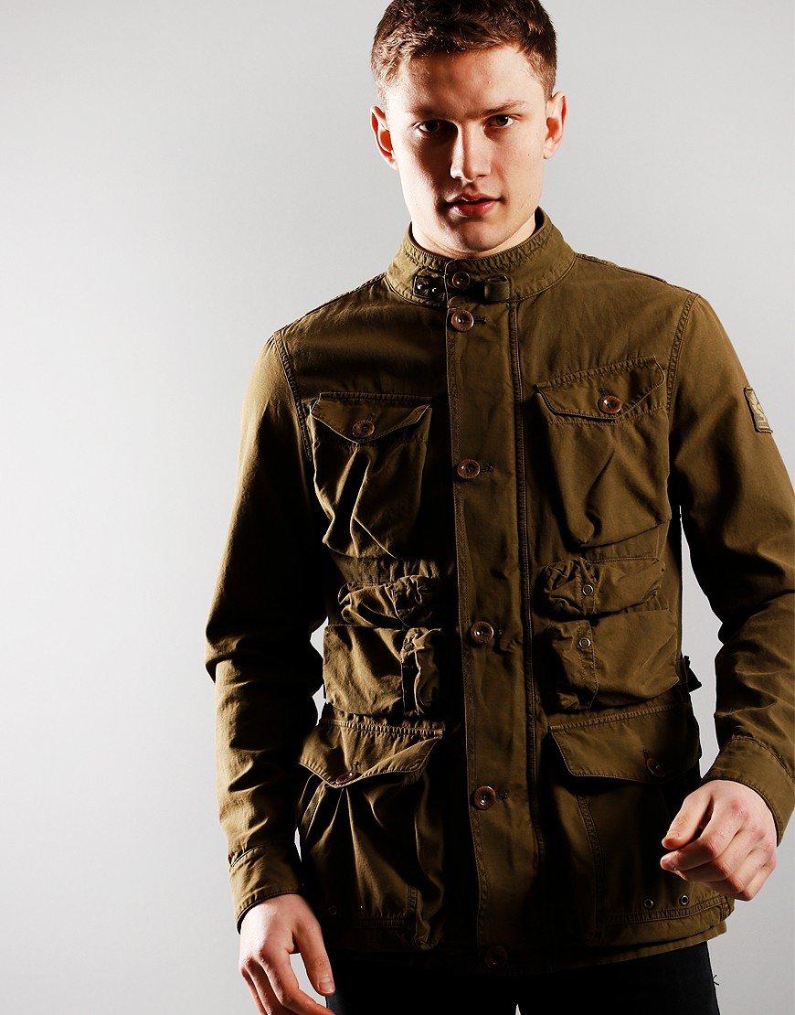 Belstaff Forager Herringbone Jacket Military Olive