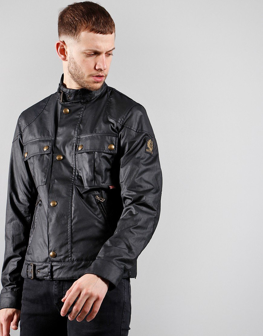 Belstaff Gangster Wax Jacket Black