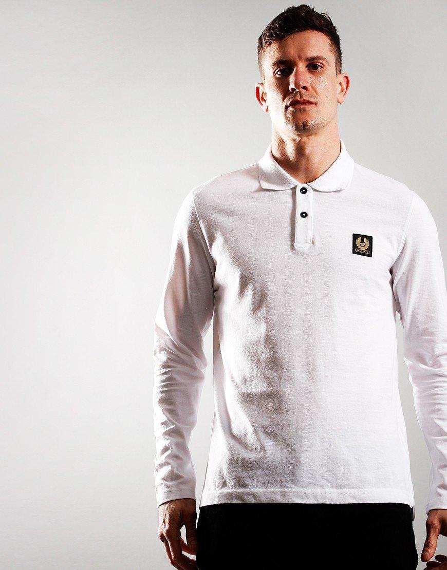 Belstaff Long Sleeve Essentials Polo Shirt White