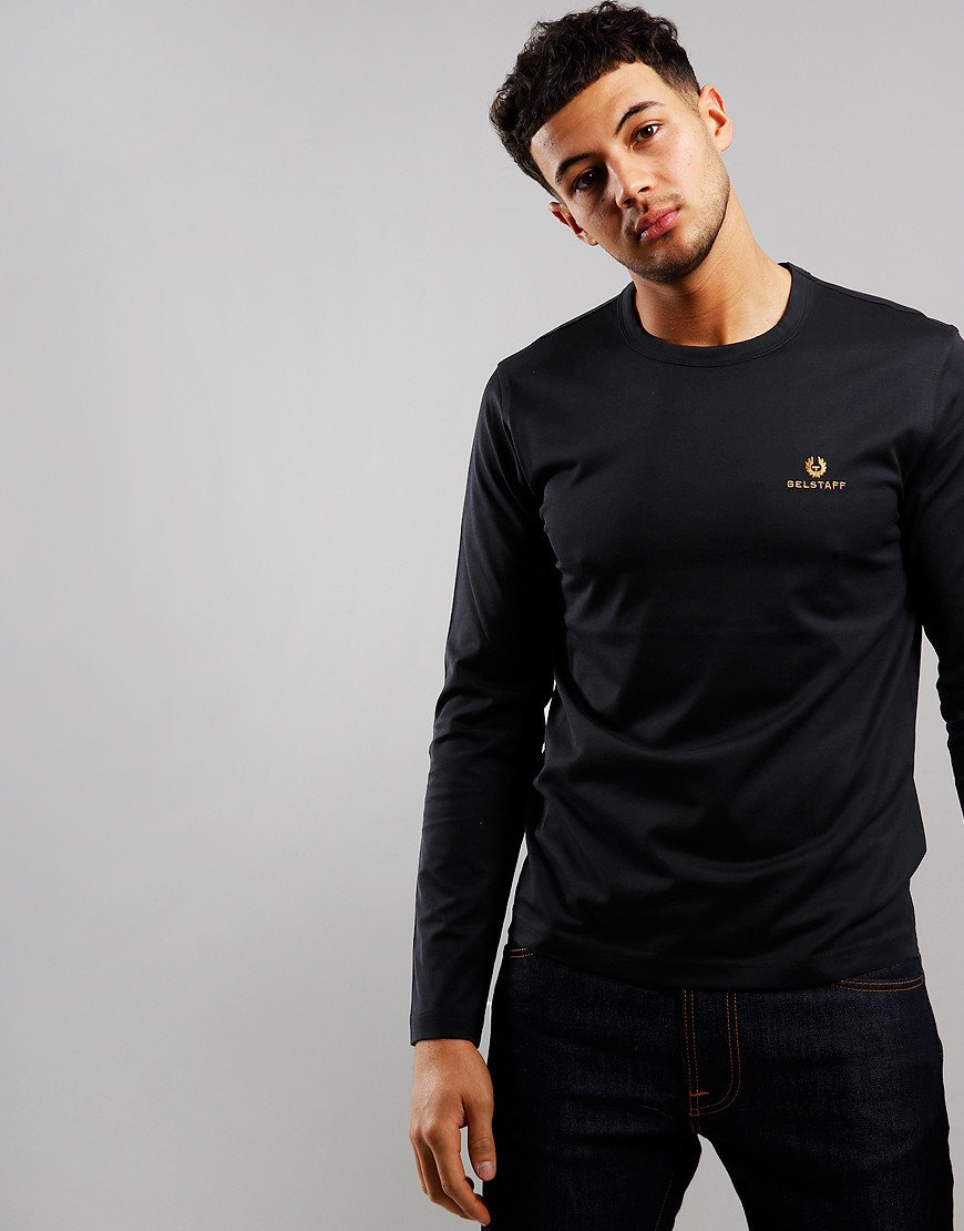 Belstaff Embroidered Long Sleeve T-Shirt Black