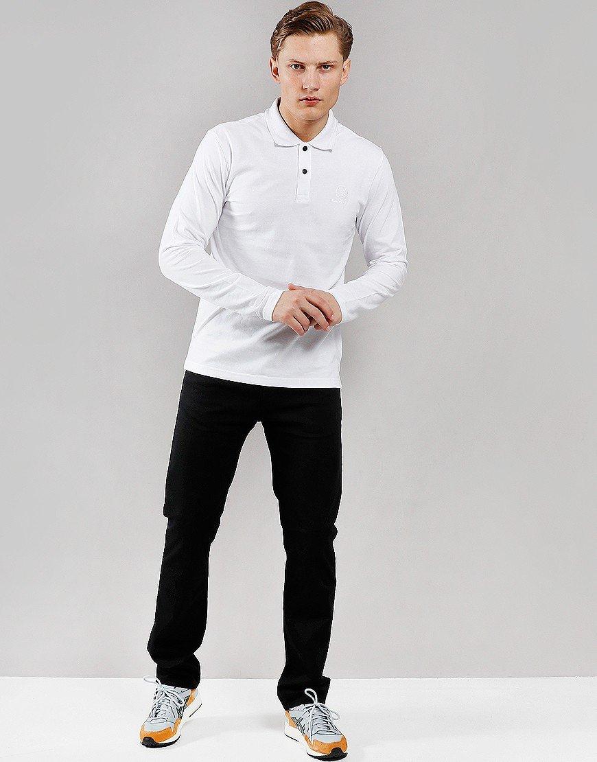Belstaff Long Sleeve Polo Shirt White
