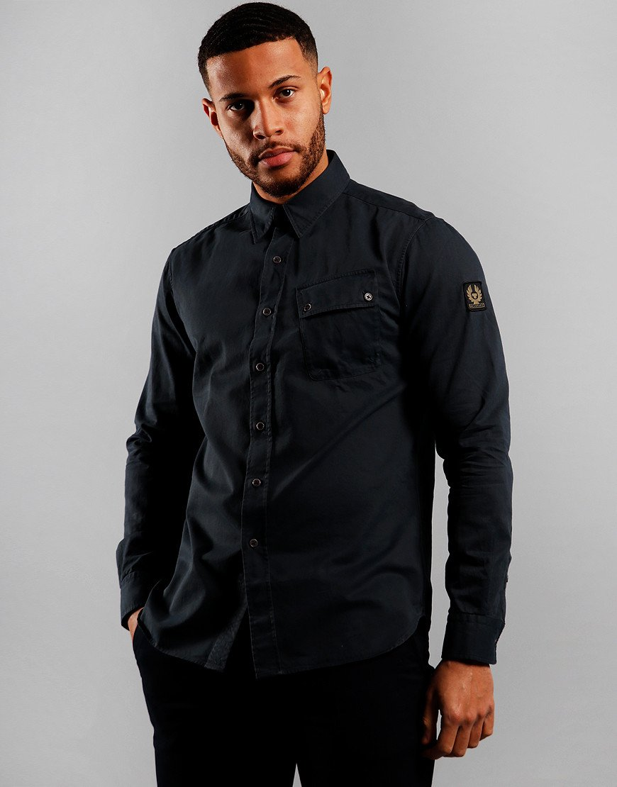 Belstaff Pitch Long Sleeve Shirt Deep Navy