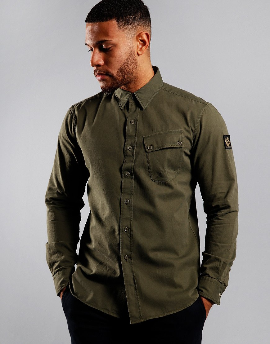 Belstaff Pitch Long Sleeve Shirt Sage Green