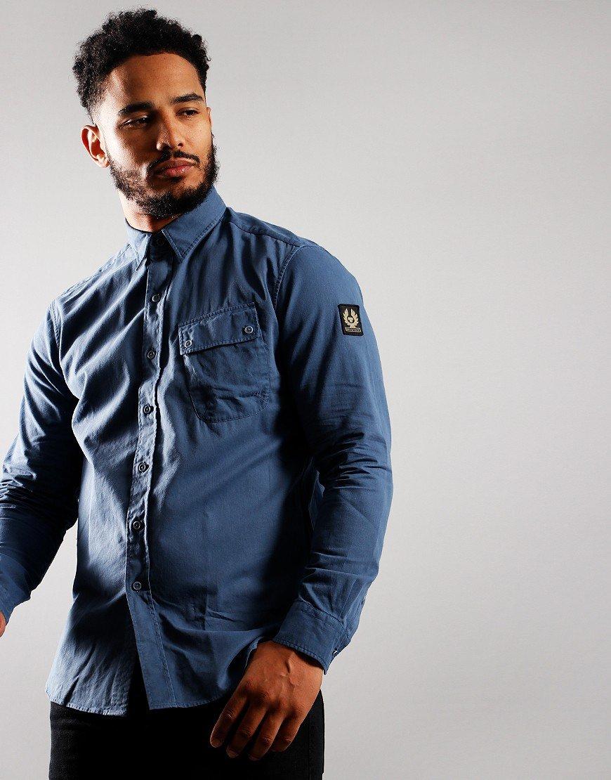 Belstaff Pitch Long Sleeve Shirt Racing Blue