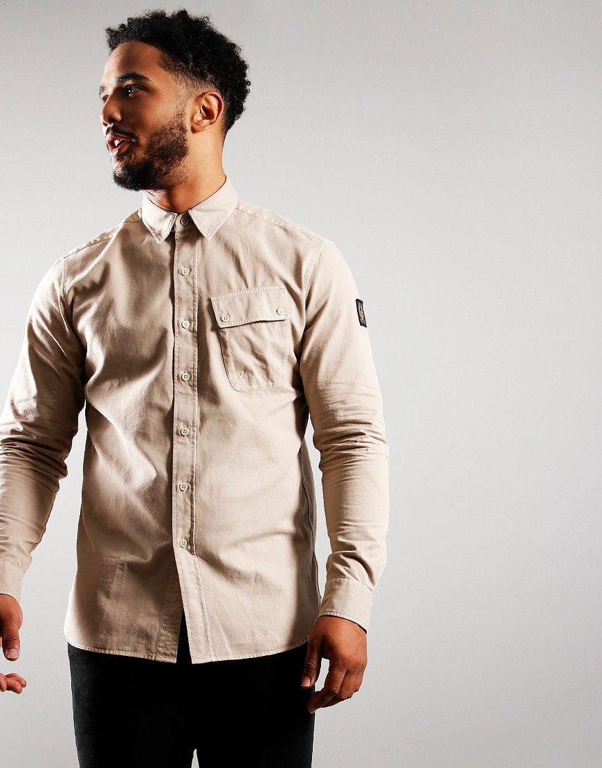 Belstaff Pitch Long Sleeve Shirt Stone White