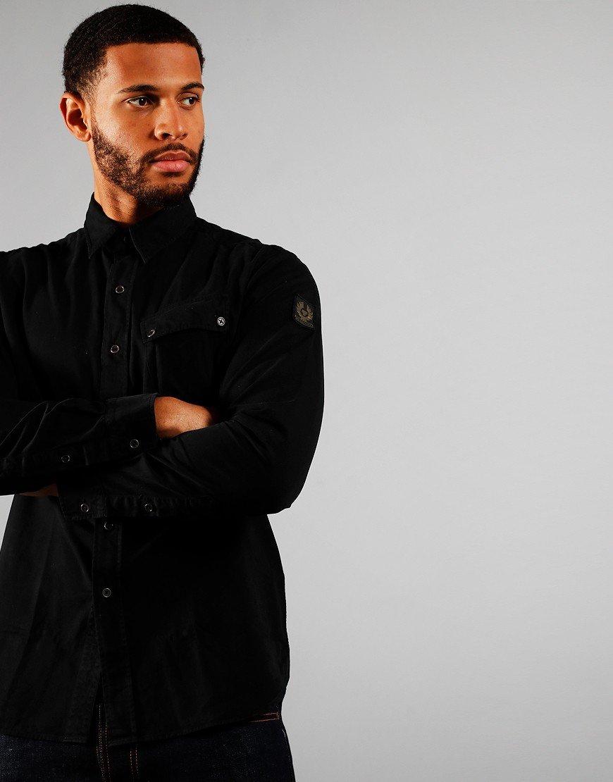 Belstaff Pitch Long Sleeved Shirt Black