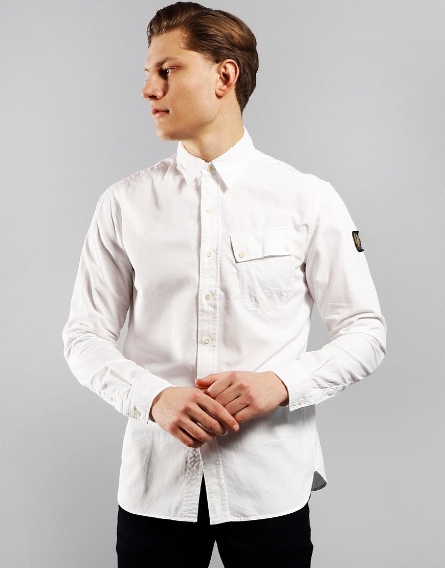 Belstaff Pitch Long Sleeve Shirt White