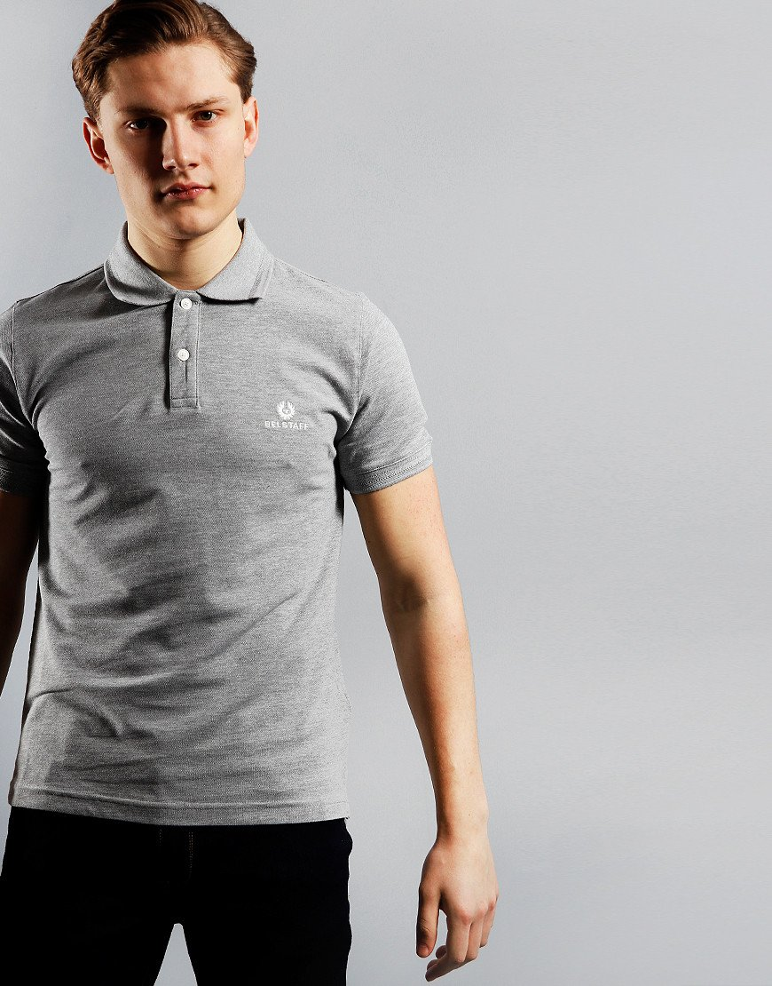 Belstaff Polo Shirt Grey Melange