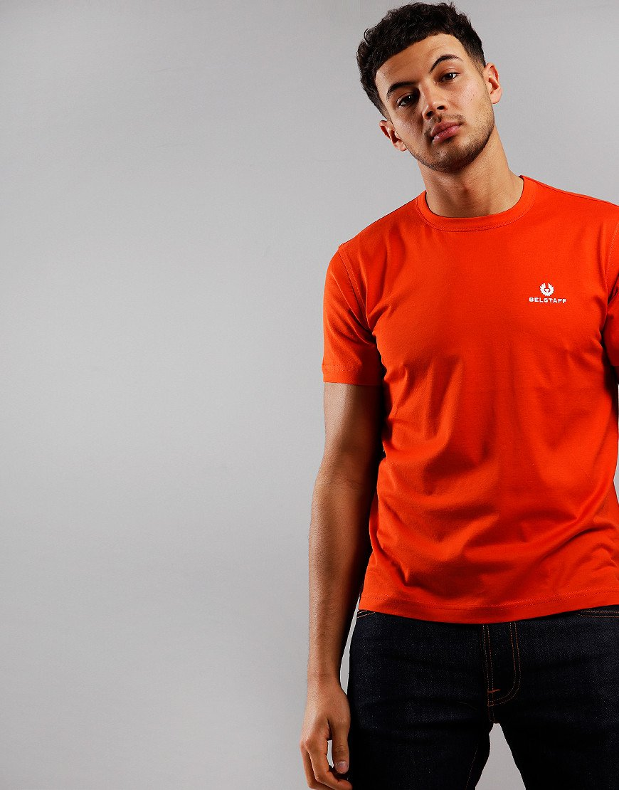 Belstaff Embroidered T-Shirt  Orange