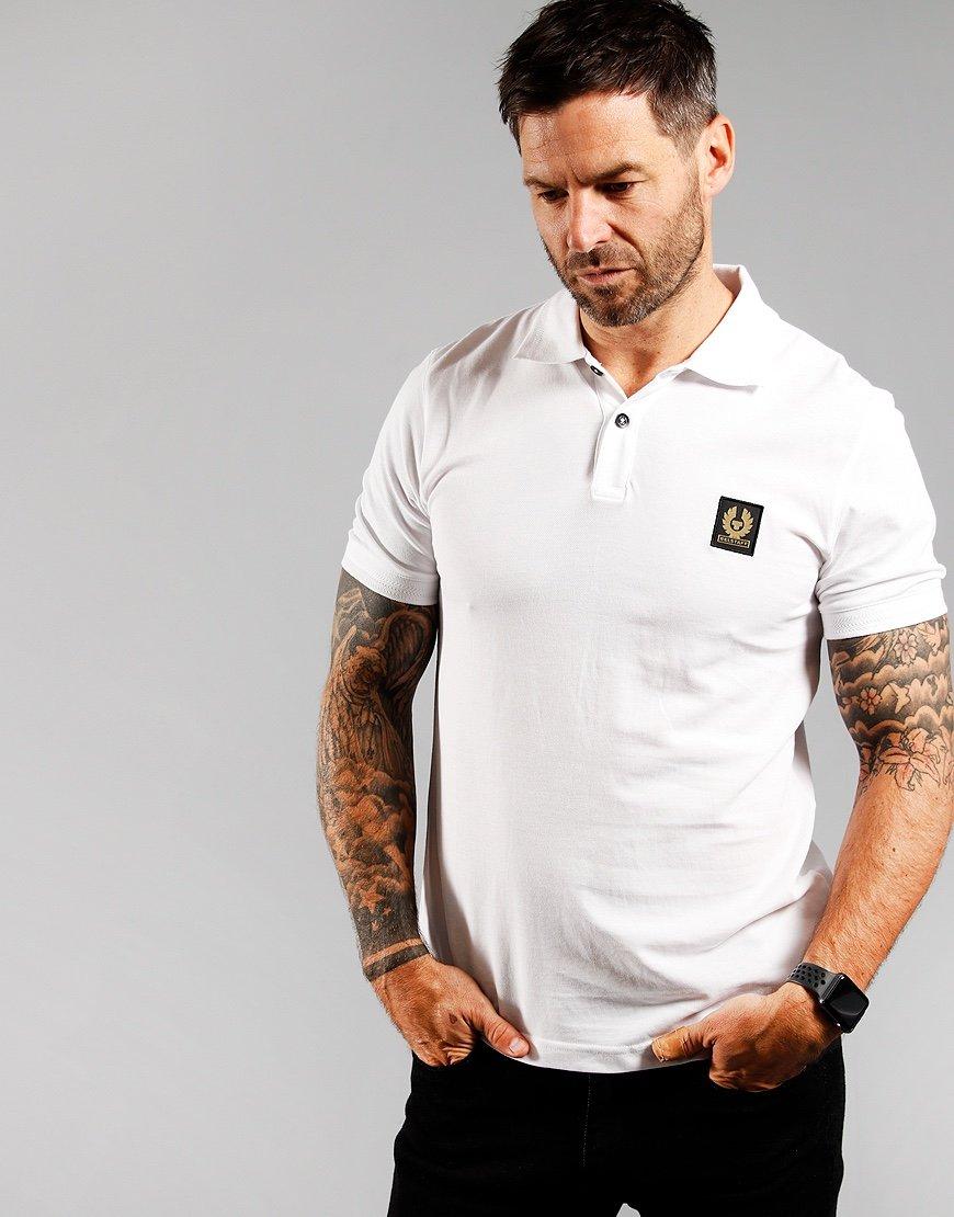 Belstaff Short Sleeve Polo Shirt White