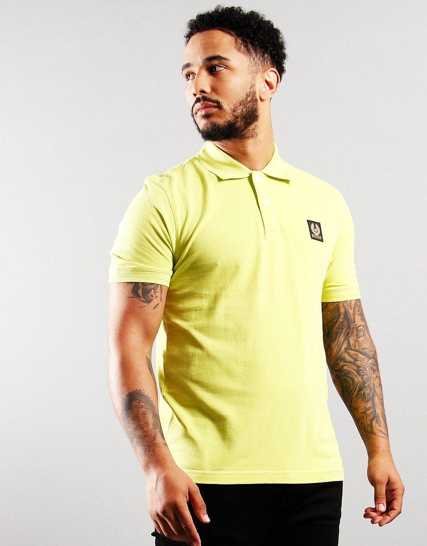 Belstaff Short Sleeve Polo Lime Green