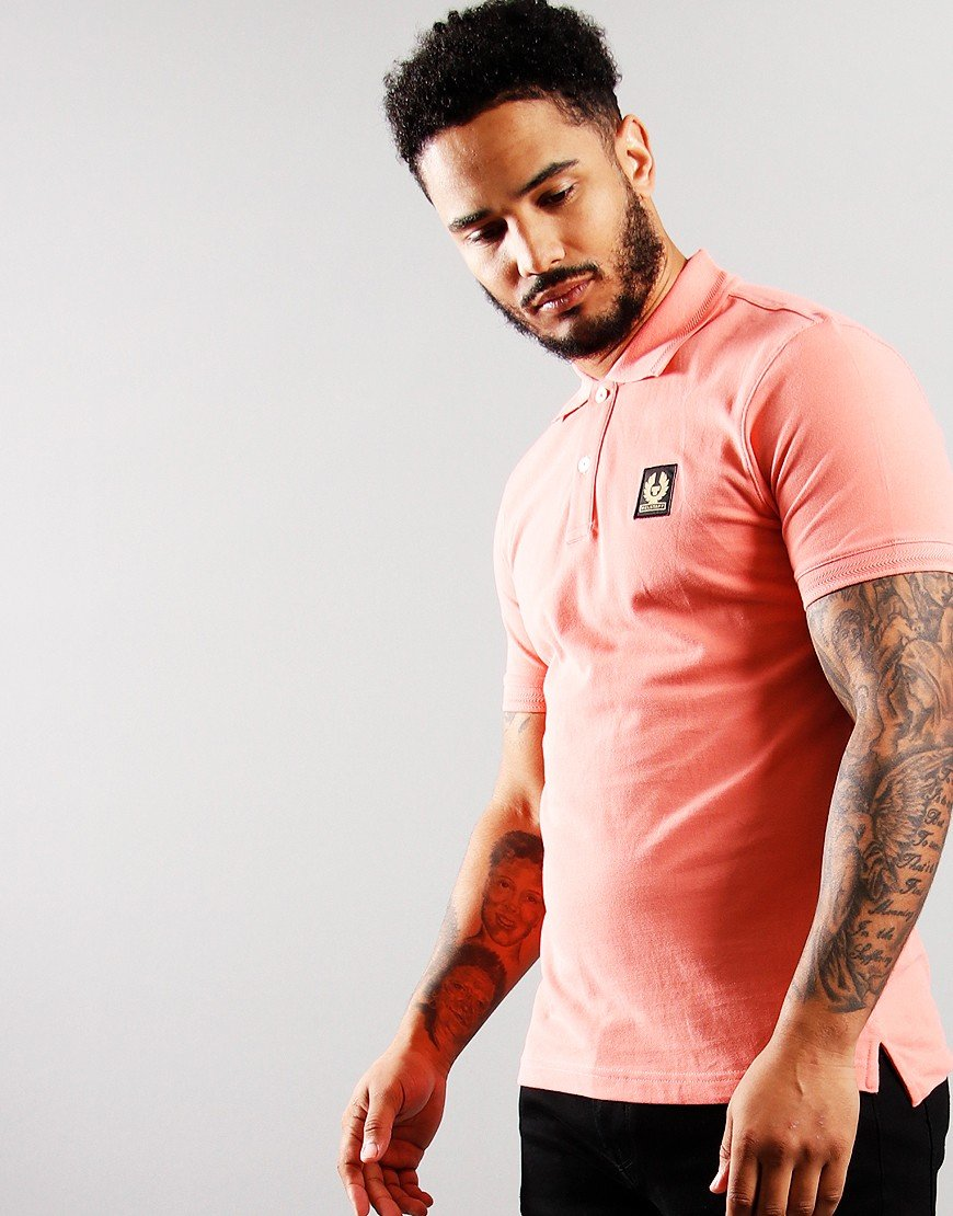 Belstaff Short Sleeve Polo Shell Pink