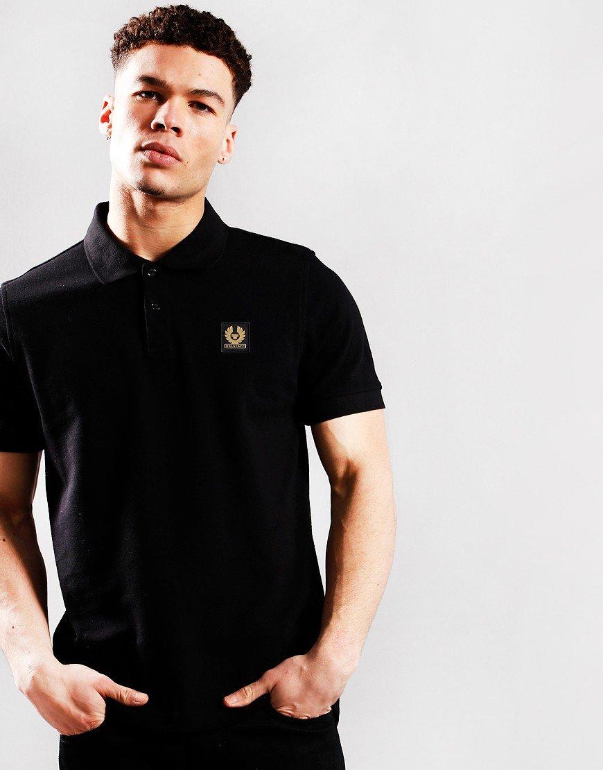 Belstaff Short Sleeve Polo Shirt Black