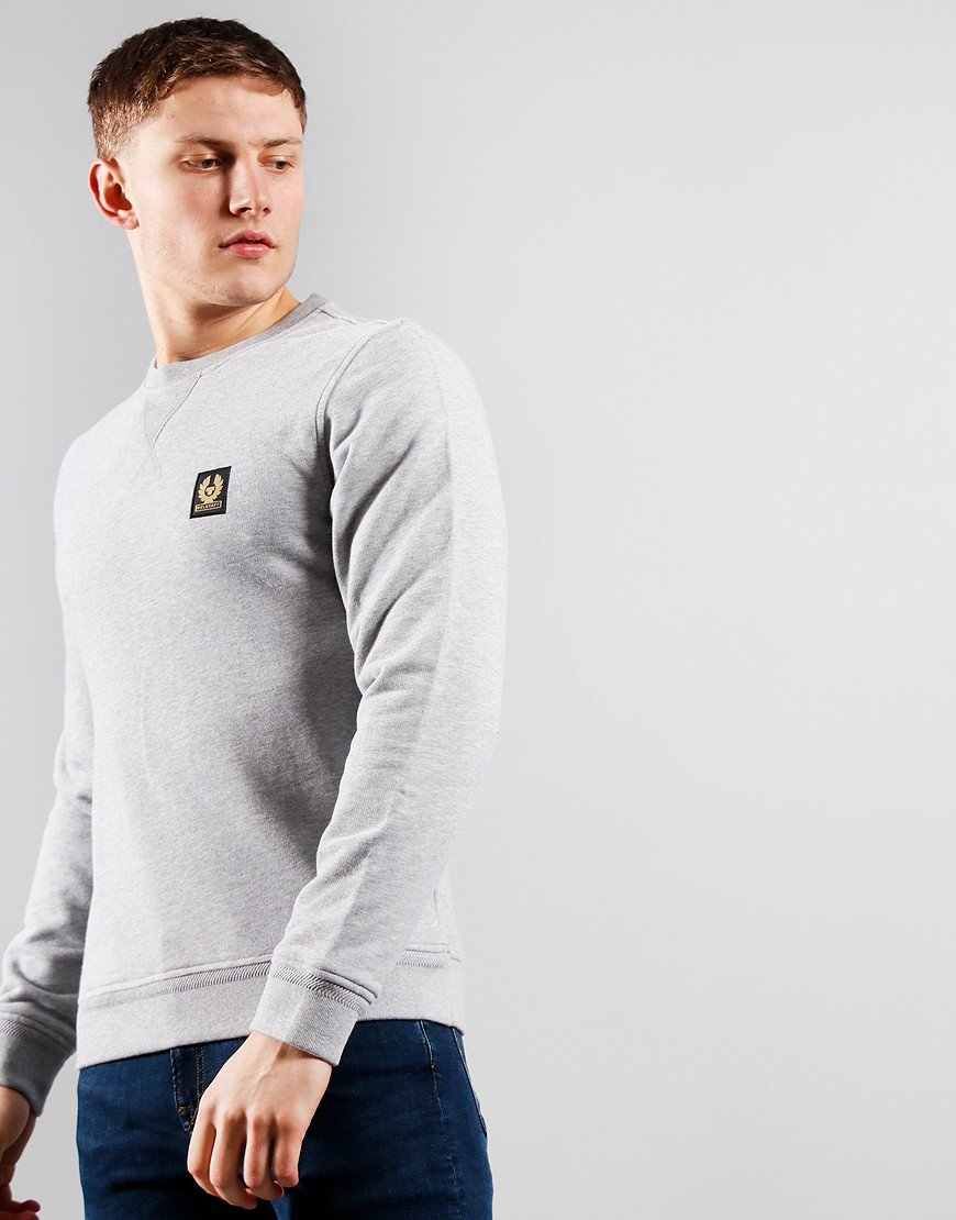 Belstaff Crew Neck Sweat Grey Melange