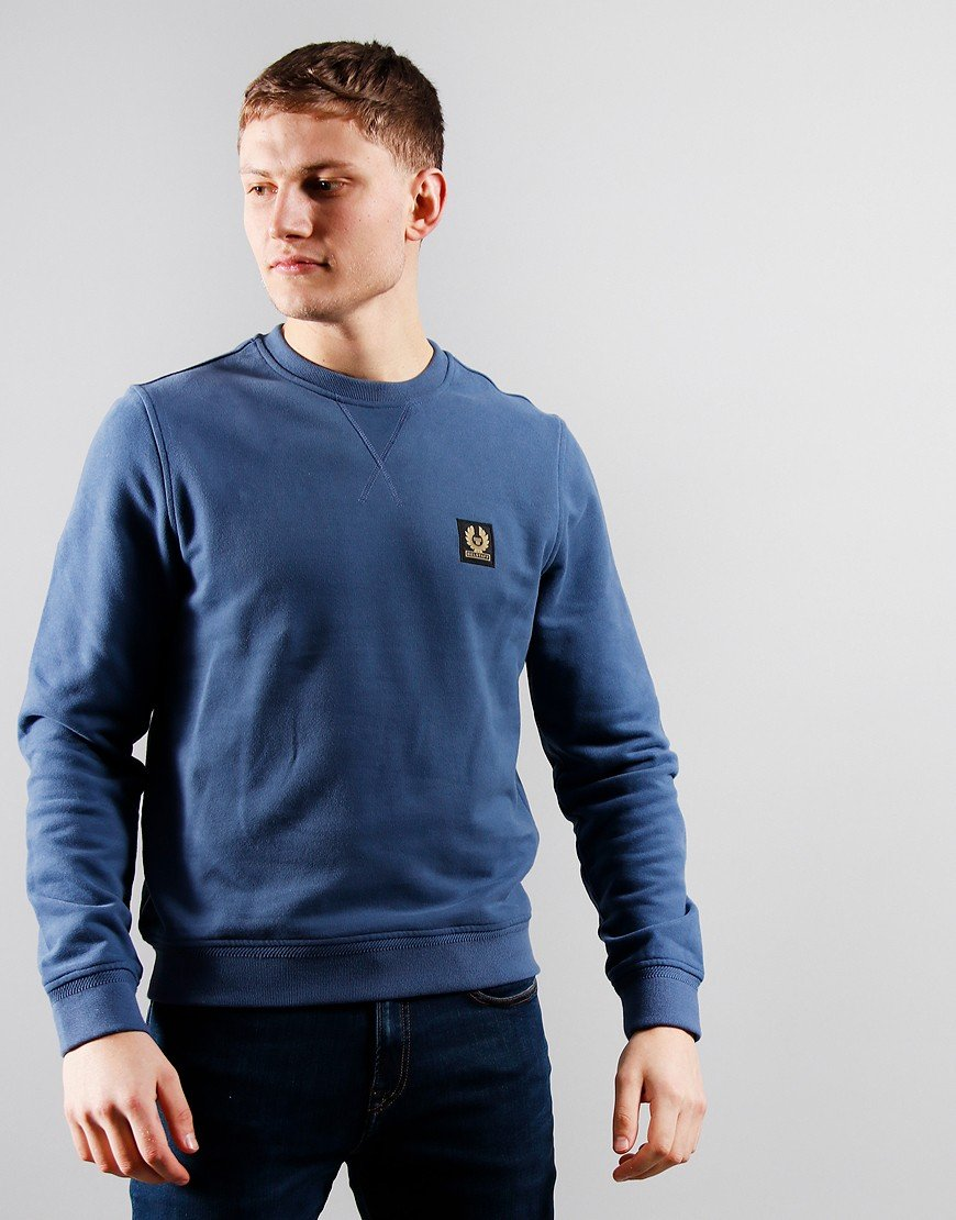 Belstaff Crew Neck Sweatshirt Racing Blue
