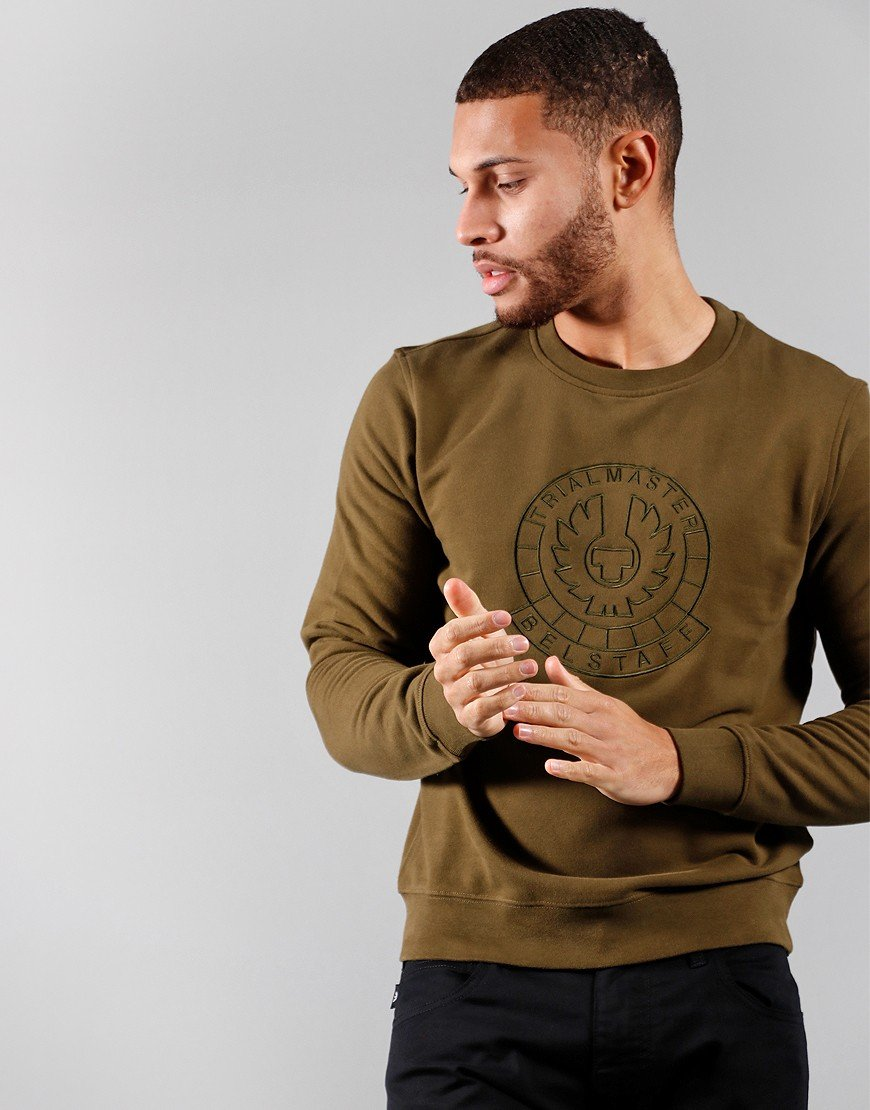 Belstaff Trialmaster Pin Embroidered Sweat Salvia