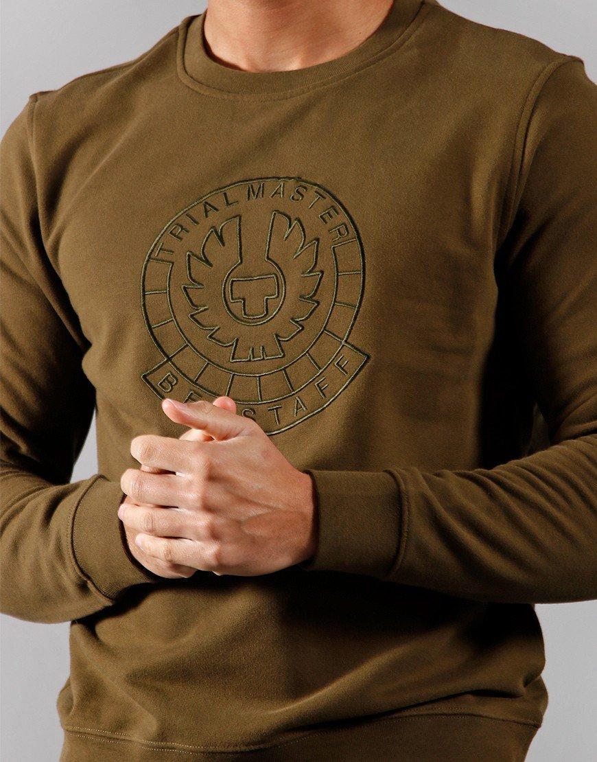 Belstaff Trialmaster Pin Embroidered Sweat Salvia